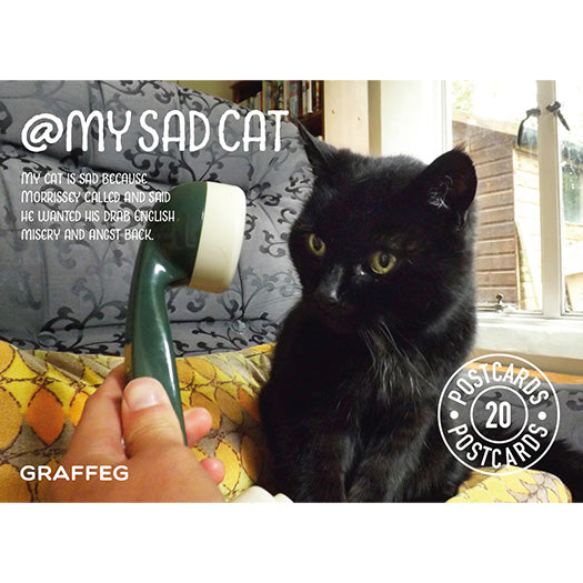 My Sad Cat Postcard Pack