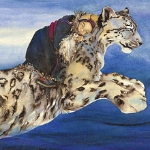 Load image into Gallery viewer, Jackie Morris Snow Leopard Card - 5 Pack