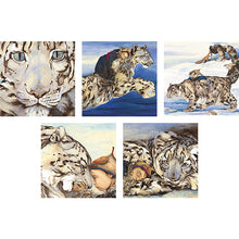 Load image into Gallery viewer, Jackie Morris Snow Leopard Greetings Cards