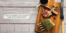 Load image into Gallery viewer, Flavours of England Roasts Gilli Davies and Huw Jones published by Graffeg rack of Romney salt marsh lamb with herb crust