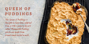 Flavours of England Puddings Gilli Davies Huw Jones published by Graffeg Queen of Puddings