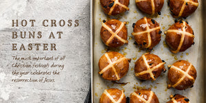 Flavours of England Festive Gilli Davies Huw Jones published by Graffeg Hot Cross Buns Easter