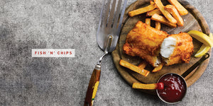Flavours of England Fish and Seafood Gilli Davies Huw Jones published by Graffeg Fish 'n' Chips