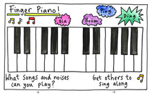 Load image into Gallery viewer, Fun for Fingers by Anna Bruder published by Graffeg Finger Piano