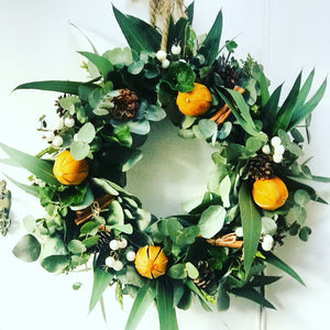 Fresh Eucalyptus base wreath