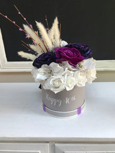 Personalised Faux Flower Box