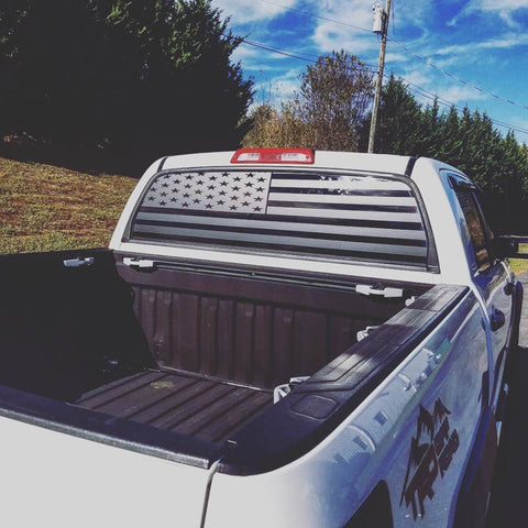 Toyota Tundra  Rear Window Decal american flag - OGRAPHICS