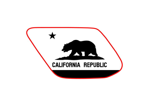 California state flag 4runner 5th 4TH gen 3rd Gen  ( precut ) - OGRAPHICS