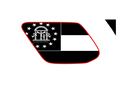 Georgia state flag 4runner 5th 4TH gen 3rd Gen  ( precut ) - OGRAPHICS
