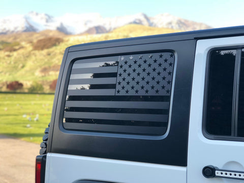 JEEP WRANGLER UNLIMITED FLAG DECAL