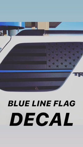 Blue line Toyota 4runner 5th gen  american usa  flag decal ( precut ) - OGRAPHICS
