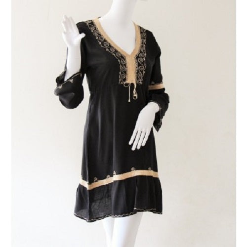 Black Moroccan Kaftan. - Just-Oz