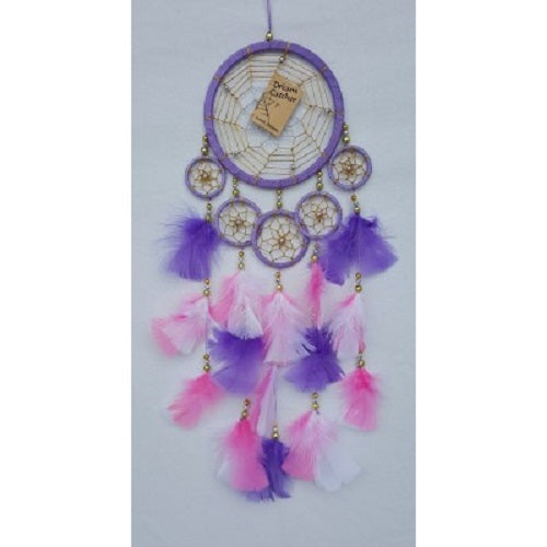 Dreamcatcher with 13cm ring and 5 smaller rings - Just-Oz