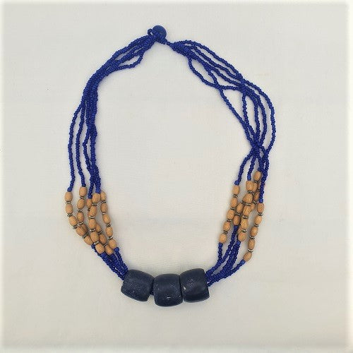 Wooden Bead Necklace - Just-Oz