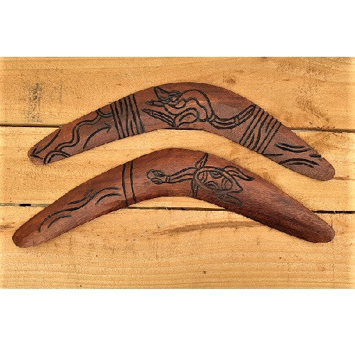 Boomerang Burnt Twisted 40cm - Just-Oz