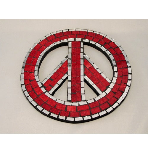 Mosaic Peace Sign - Just-Oz