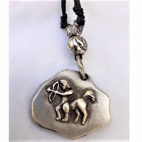 Necklace Pewter Zodiac Sign