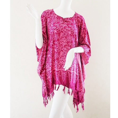 Sarong Poncho Jungle Vine Frill - Just-Oz