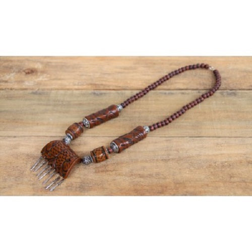 Resin Beads Moroccan Necklace. - Just-Oz