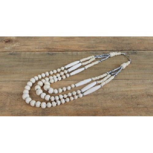 Bone Beads Moroccan Necklace. - Just-Oz