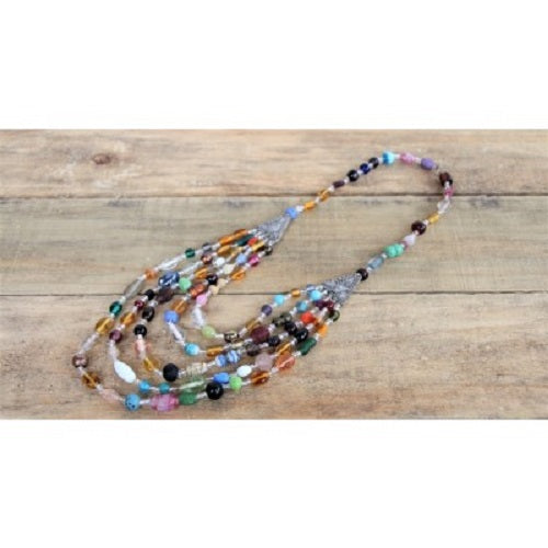 Glass Beaded Moroccan Necklace. - Just-Oz