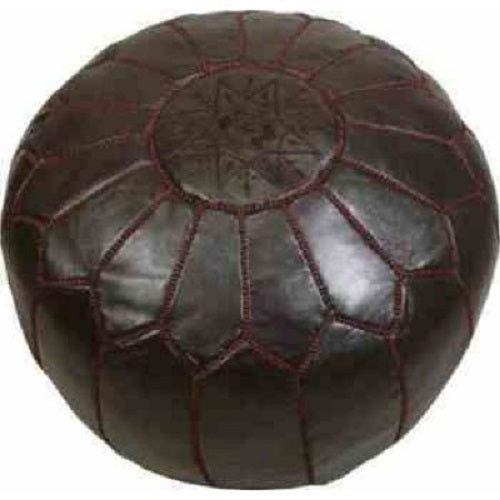 Moroccan Leather Pouffe. - Just-Oz
