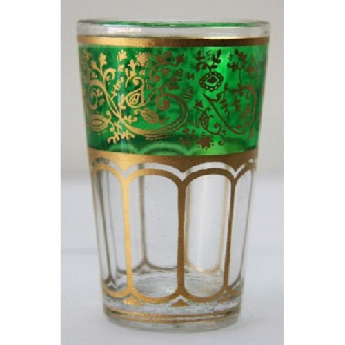 Green Moroccan Tea Glass. - Just-Oz