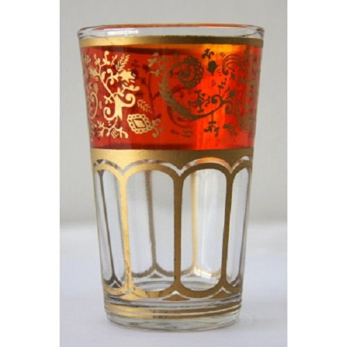 Orange Moroccan Tea Glass. - Just-Oz
