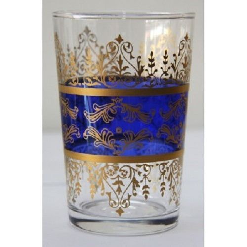 Blue Moroccan Tea Glass. - Just-Oz
