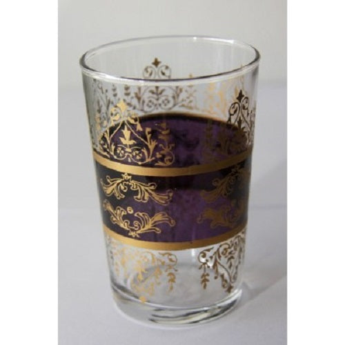 Purple Moroccan Tea Glass. - Just-Oz