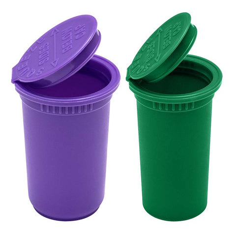 child resistant pop top bottles