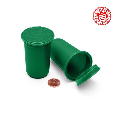 medical marijuana pop top containers