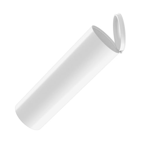 extra wide plastic 114mm bulk wholesale pop-top pre-roll tubes opaque white