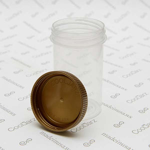 19 Dram Screw Top Vials with Gold Cap for packaging flower translucent clear jar 2