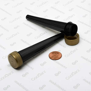 black opaque pre-roll cone tubes