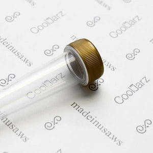 clear pre-roll cone tube with gold cap