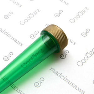 green transparent pre-roll cone tube with gold cap