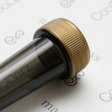 Load image into Gallery viewer, smoke transparent pre-roll cone tube with gold cap