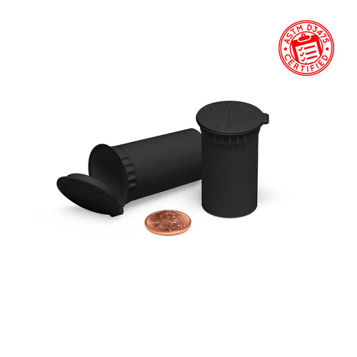 10ml Child Resistant Pop Top Concentrate Container Tubes black 2 dram