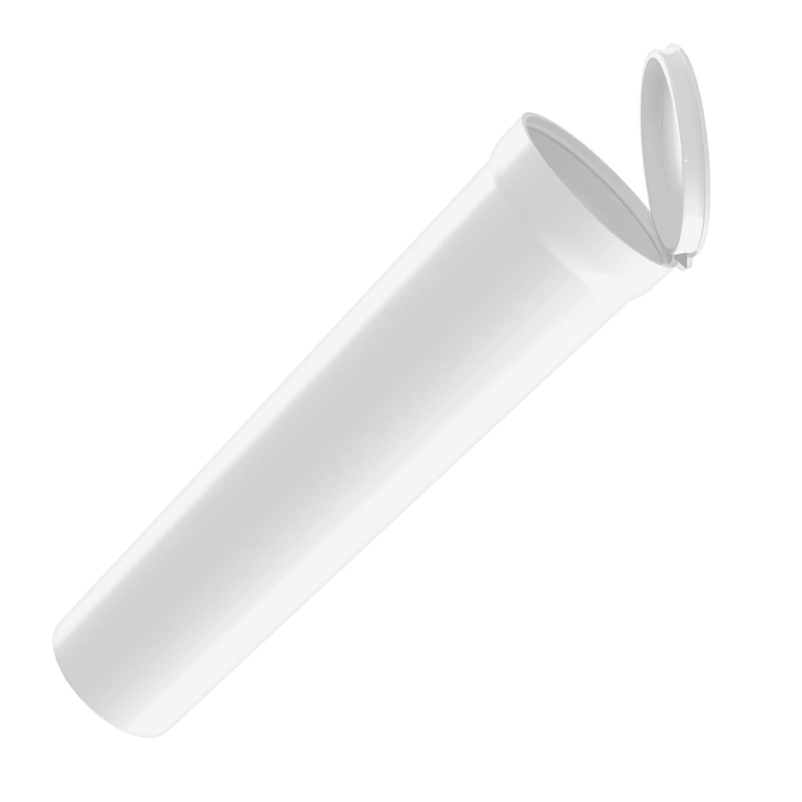 wide tapered plastic 114mm bulk wholesale pop-top pre-roll tubes opaque white