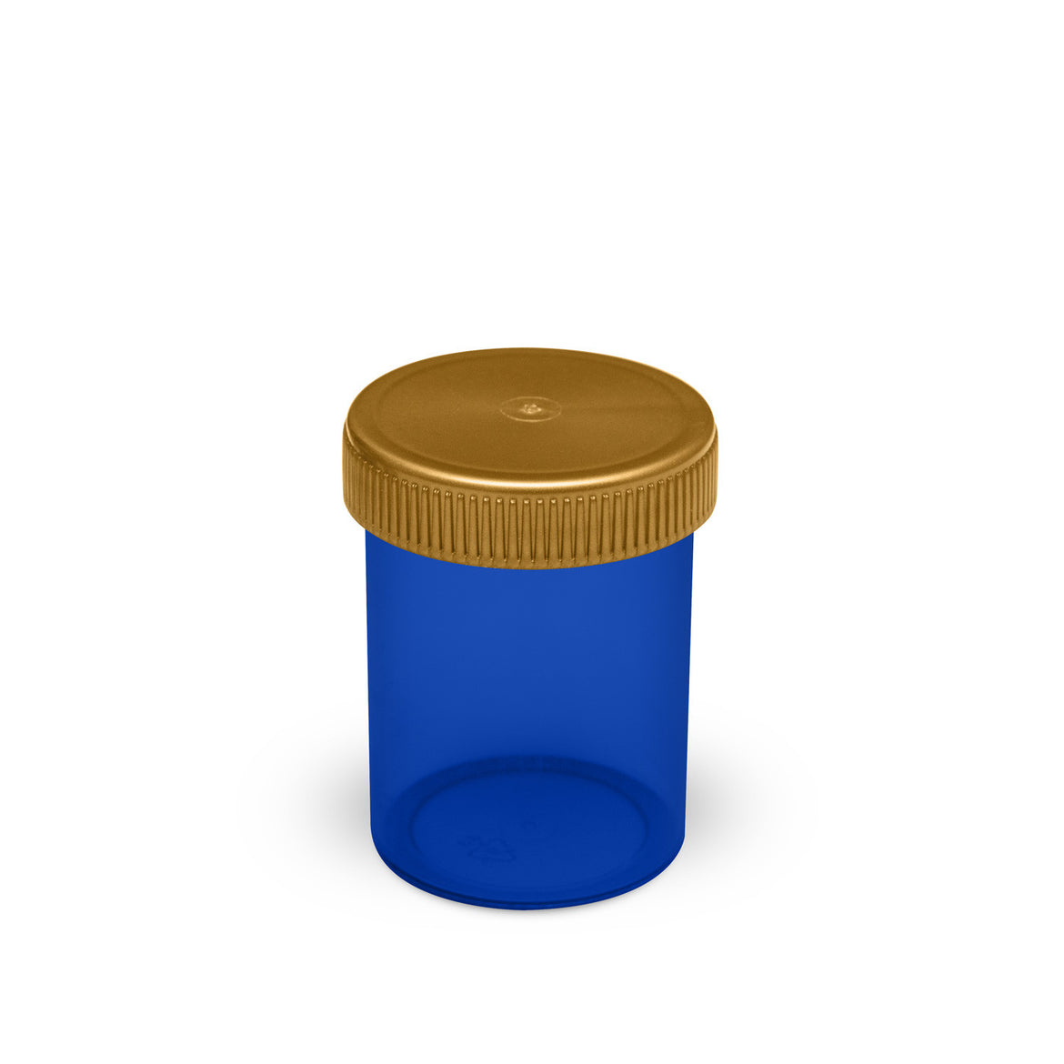 threaded airtight jars for storing and holding flower in translucent blue