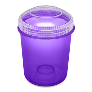 13oz 105 Dram Plastic Container with Clear Lid for flower and edibles translucent purple