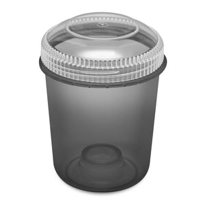 13oz 105 Dram Plastic Container with Clear Lid for flower and edibles translucent black