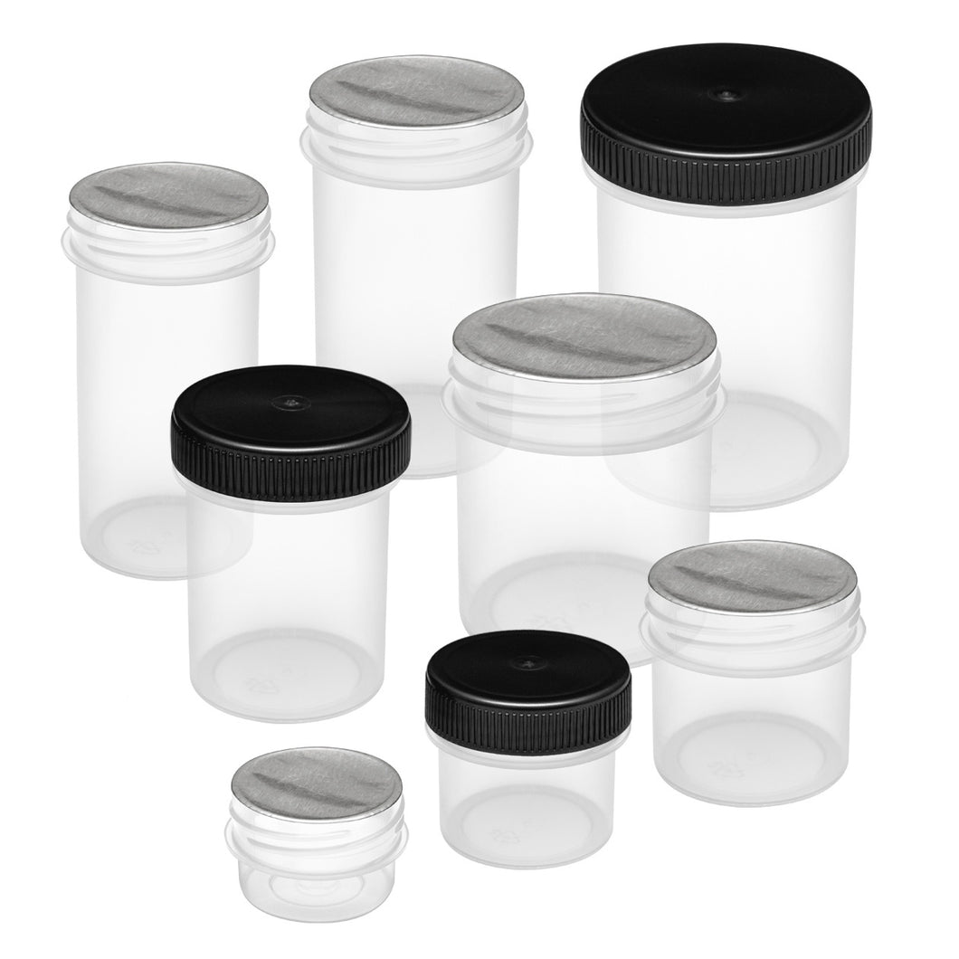 Sample Pack - Screw Top Vials & Containers w/ Foil Seal