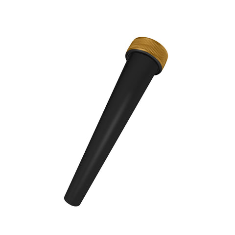 black opaque pre-roll cone tube