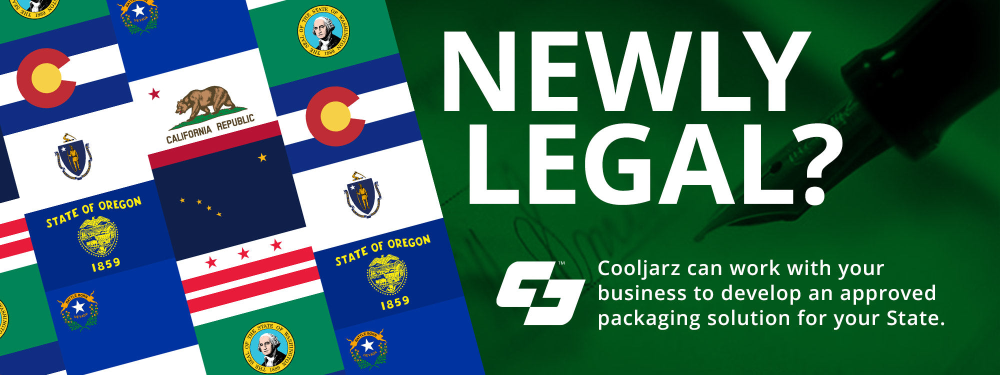 State-Compliant Packaging Banner