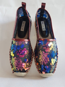 GP-Purple sequins espadrilles **recommend sizing down one full size**
