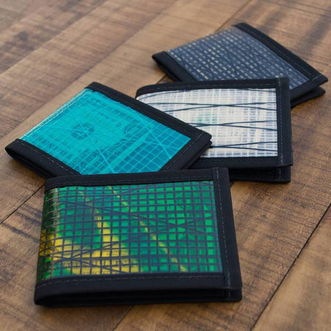 Flowfold Wallets made with recycled Sailcloth  Money Clip   Pacific Rayne Outdoor Gear