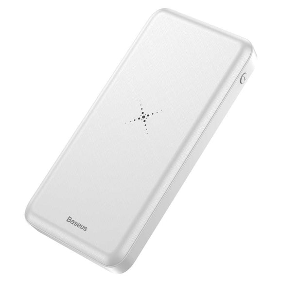Baseus M36 - Qi Powerbank 10.000mAh (Wit)