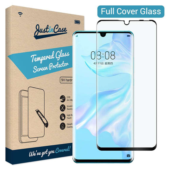 Just in Case Tempered Glass - Huawei P30 (Full Cover)